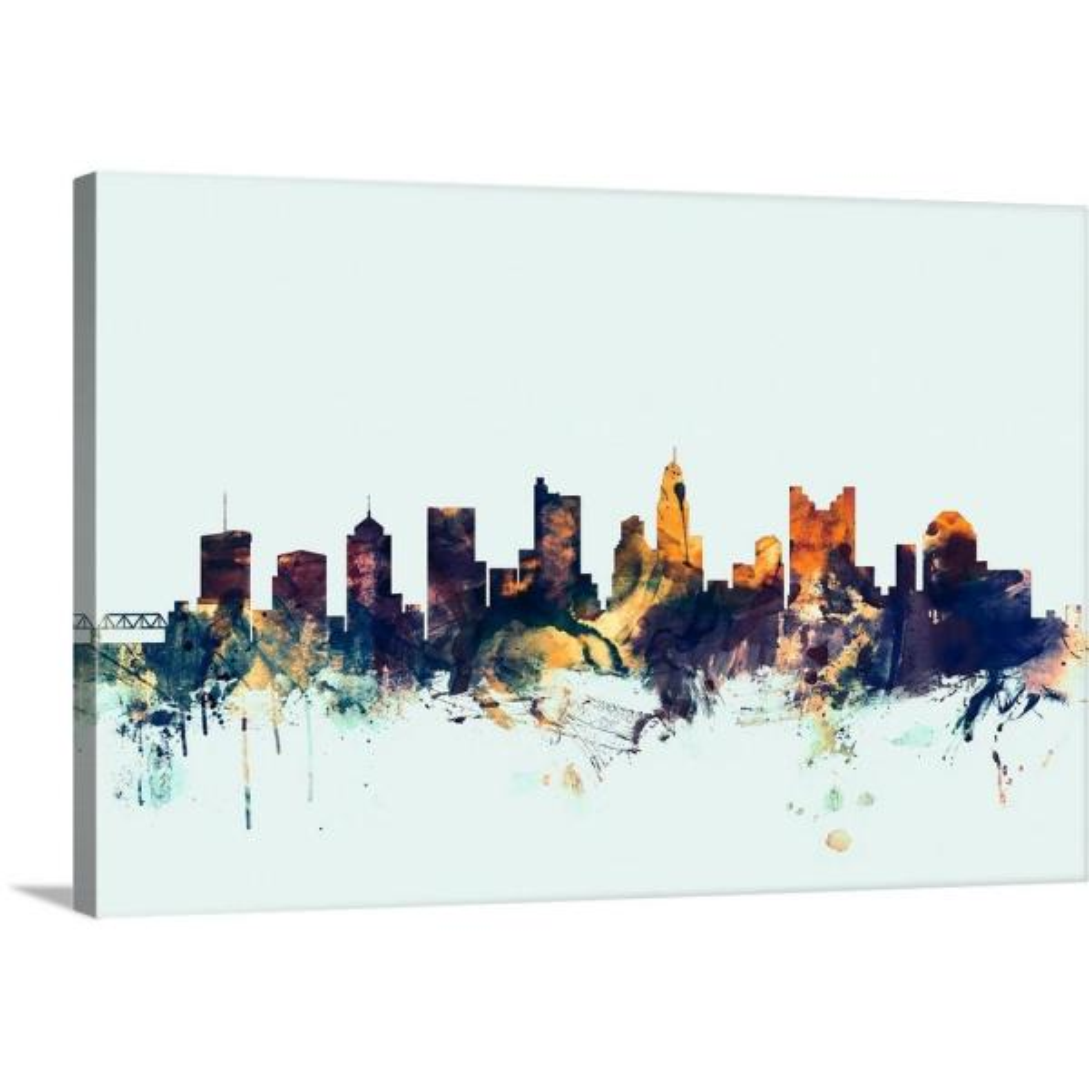 GreatBigCanvas 24 in. x 16 in. ''Columbus Ohio Skyline'' by Michael