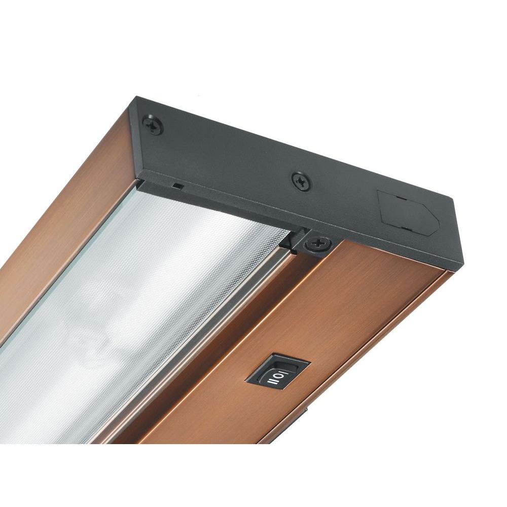 Pro-Series 14 in. Brushed Bronze LED Under Cabinet Light with Dimming