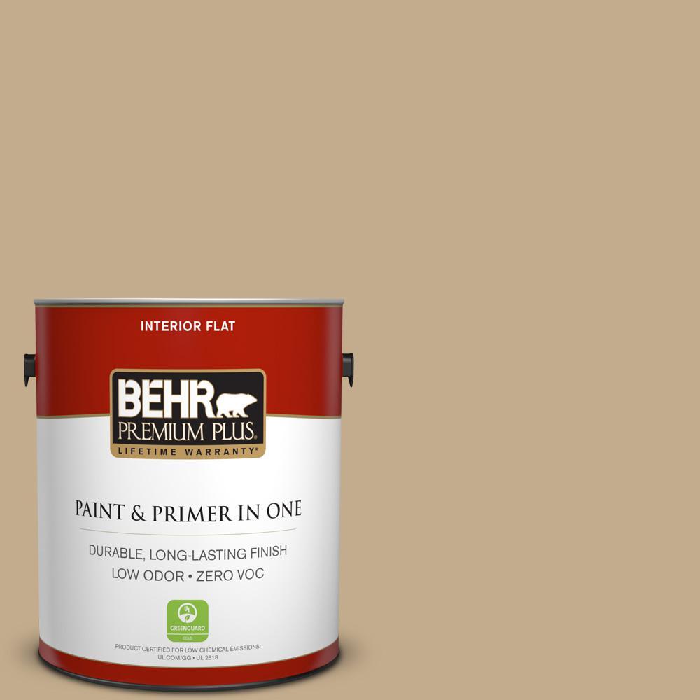 BEHR Premium Plus 1-gal. #BXC-07 Palomino Tan Flat Interior Paint