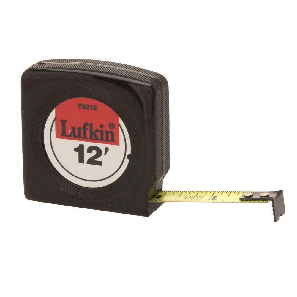 Lufkin 1/2 in. x 12 ft. Economy Power Return Tape Measure