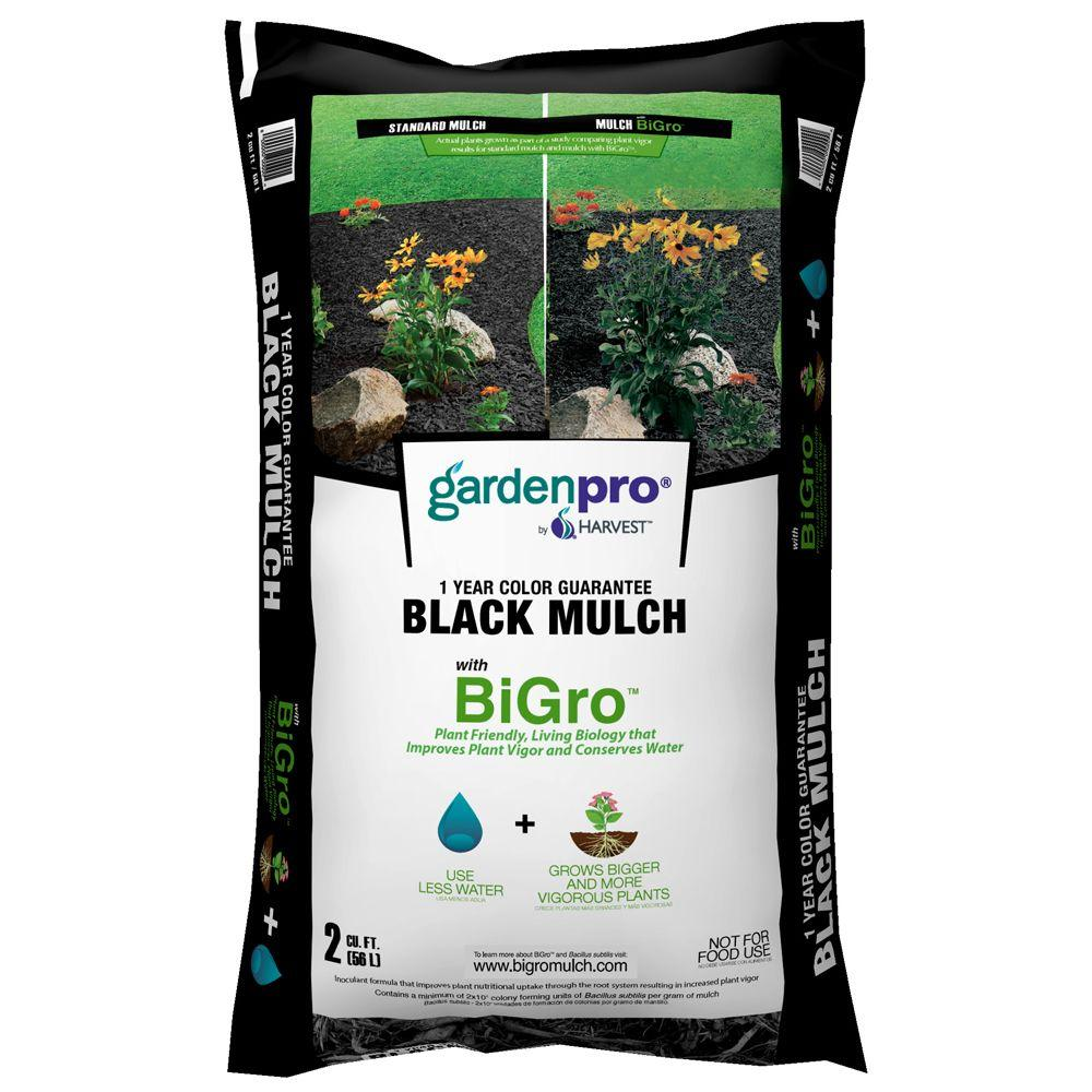 2 cu. ft. Black Colored Mulch with BiGro