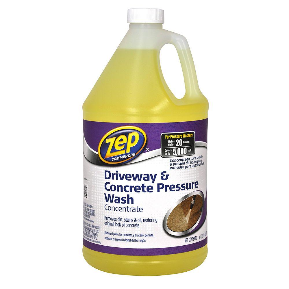 Zep 128 oz driveway and concrete pressure wash for Cement cleaning products