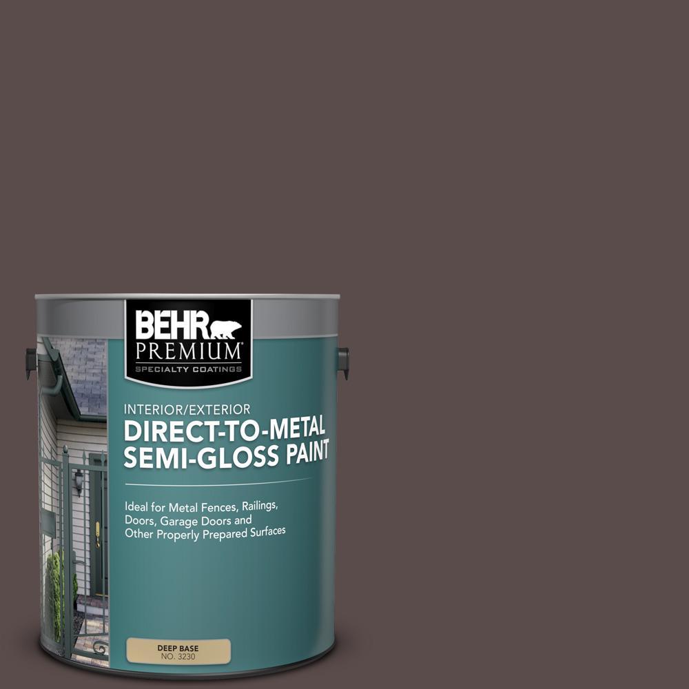 Behr Premium 1 Gal Hdc Ac 07 Oak Creek Semi Gloss Direct To Metal Interior Exterior Paint 323001 The Home Depot
