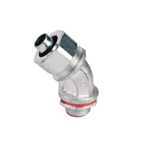 2 in. 45 Degree Insulated Metal Liquid Tight Fitting
