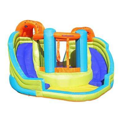 Double Slide and Bounce Inflatable Water Slide
