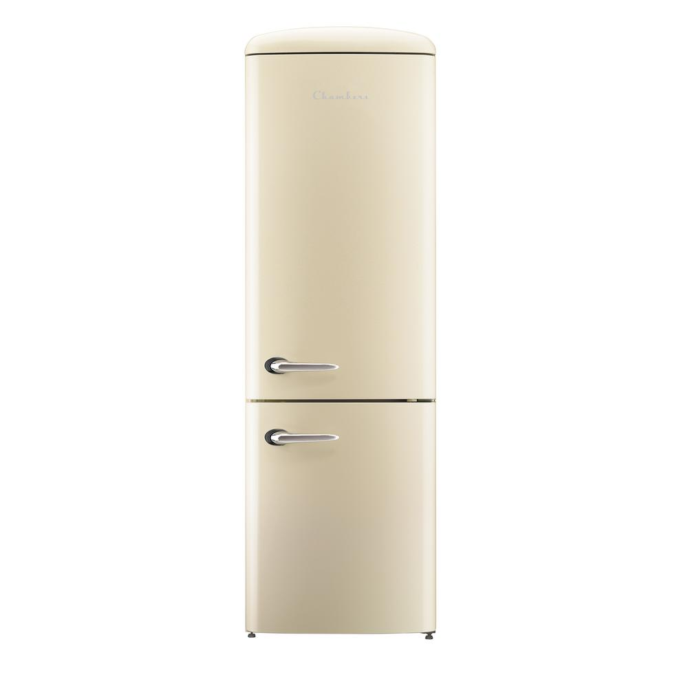 Chambers Retro 24 in. 12 cu. ft. Bottom Freezer Refrigerator in Champagne
