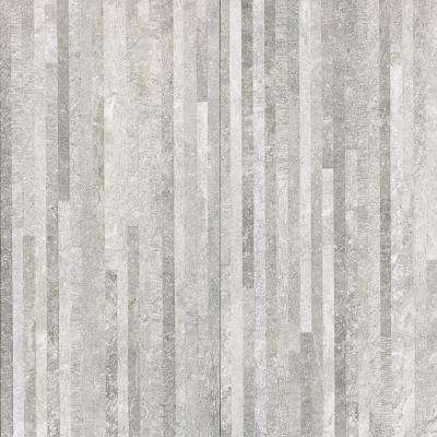 Ritsos 3D Gray 12 in. x 24 in. 10mm Natural Porcelain Wall Tile (6-piece 11.62 sq. ft. / box)