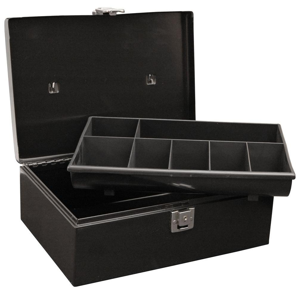 Master Lock Locking Cash Box With 7 Compartment Tray 7113d