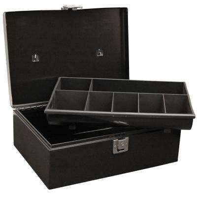 Locking Cash Box with 7 Compartment Tray