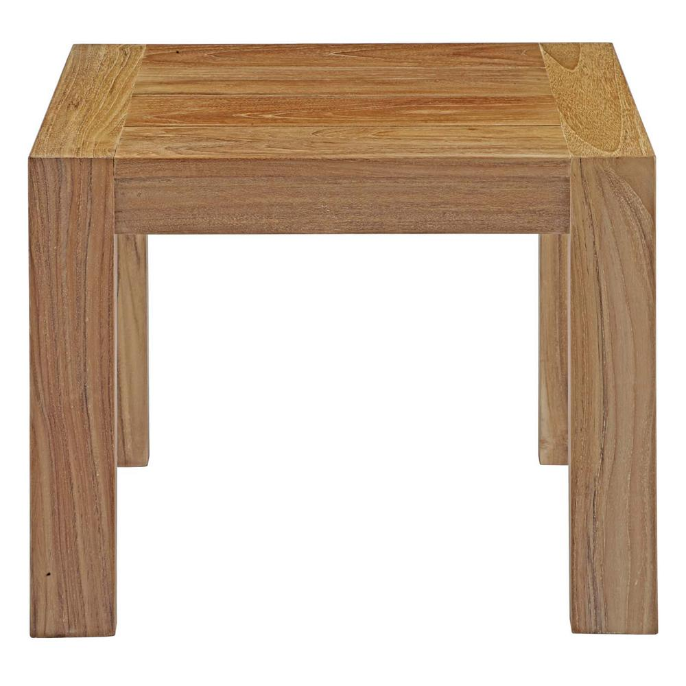Modway Upland Teak Patio Outdoor Side Table In Natural Eei 2709 Nat