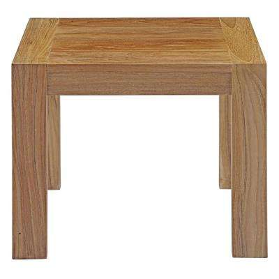 Upland Teak Patio Outdoor Side Table in Natural