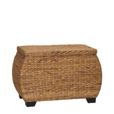 Natural Water Hyacinth Curved Lidded Chest