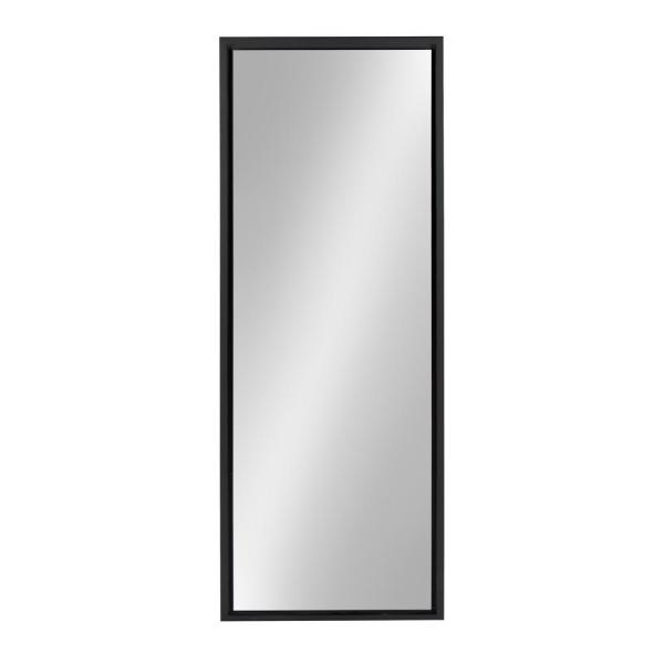 Large Rectangle Black Full-Length Contemporary Mirror (48 in. H x 16 in. W)
