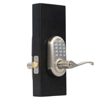 Real Living Push Button Satin Nickel Lever