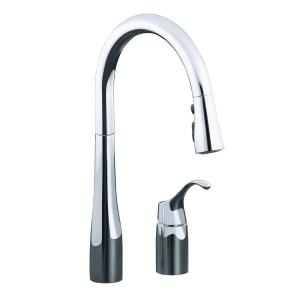 simplice pulldown sprayer kitchen faucet in polished chrome - Kohler Kitchen Faucet