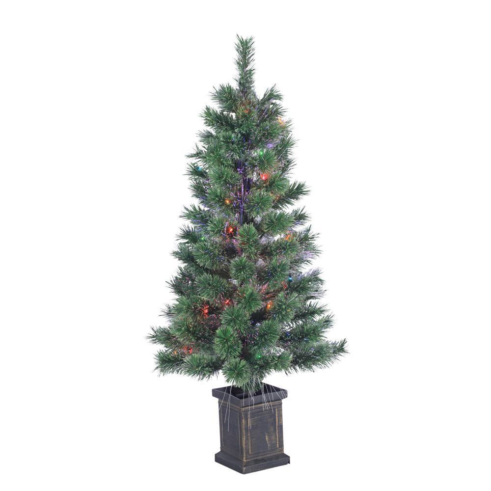 STERLING 3.5 ft. Pre-Lit Fiber Optic Cashmere Artificial Christmas ...