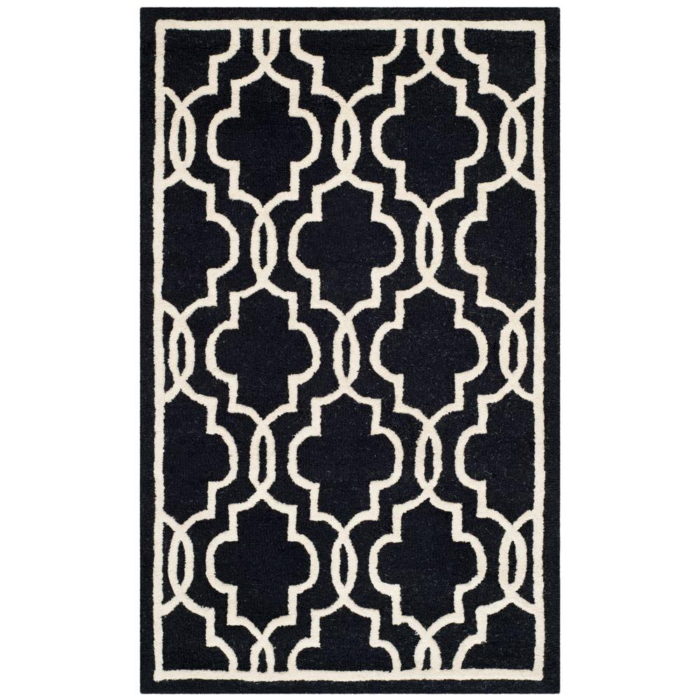 Cambridge Black/Ivory 2 ft. x 3 ft. Area Rug
