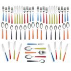 Fiesta 53-Piece Merengue Multicolor Flatware Set with Steak Knives, Service for 8