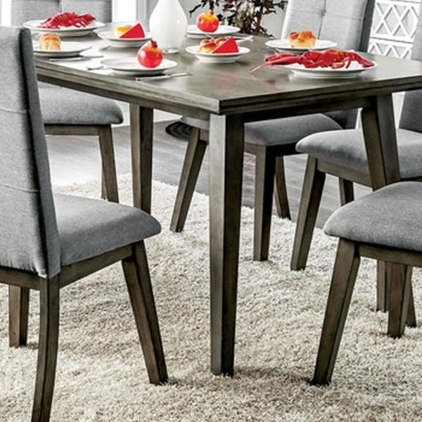 William S Home Furnishing Abelone Gray Mid Century Modern Style Rectangular Dining Table Cm3354gy T The Home Depot