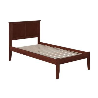 Madison Walnut Twin XL Platform Bed with Open Foot Board