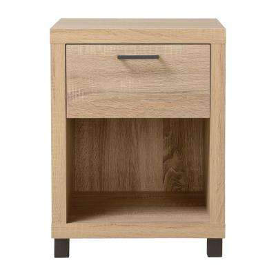 Thornton-1 Drawer Driftwood Nightstand