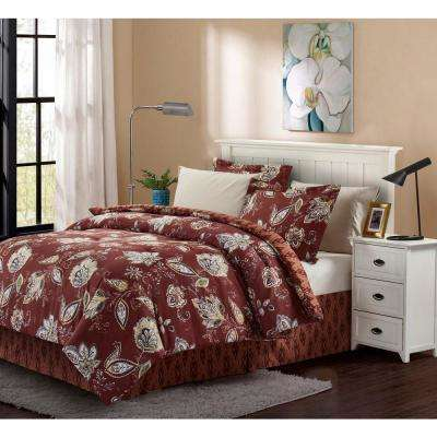 Joanna Brick Queen 8-Piece Bed-In-Bag Set