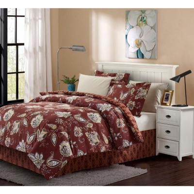 Joanna 8-Piece Brick King Bed in a Bag Set