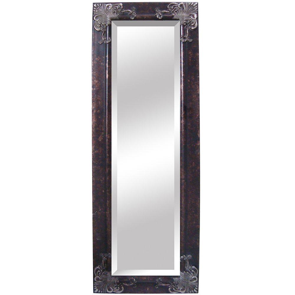 Yosemite Home Decor 25 in. x 72 in. Rectangular Decorative Antique Wood Framed Mirror