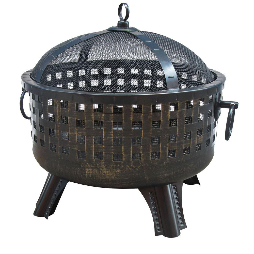 LANDMANN Garden Lights Savannah Antique Bronze Fire Pit