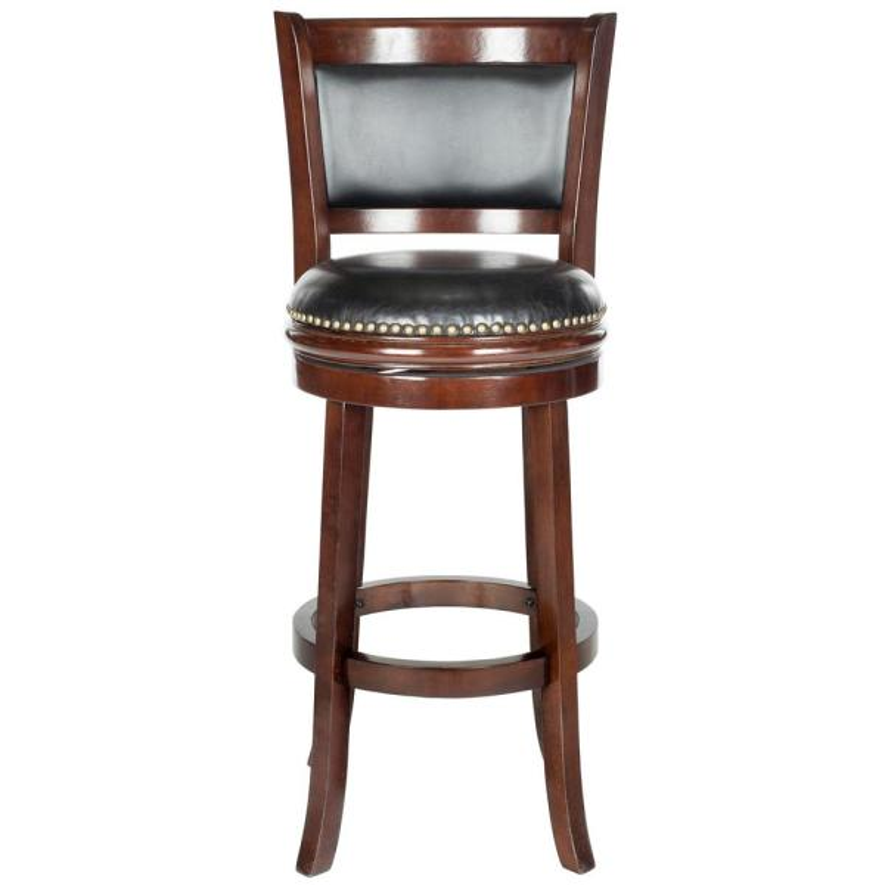Safavieh Brockway 29 in. Cappuccino Swivel Cushioned Bar Stool FOX7016A