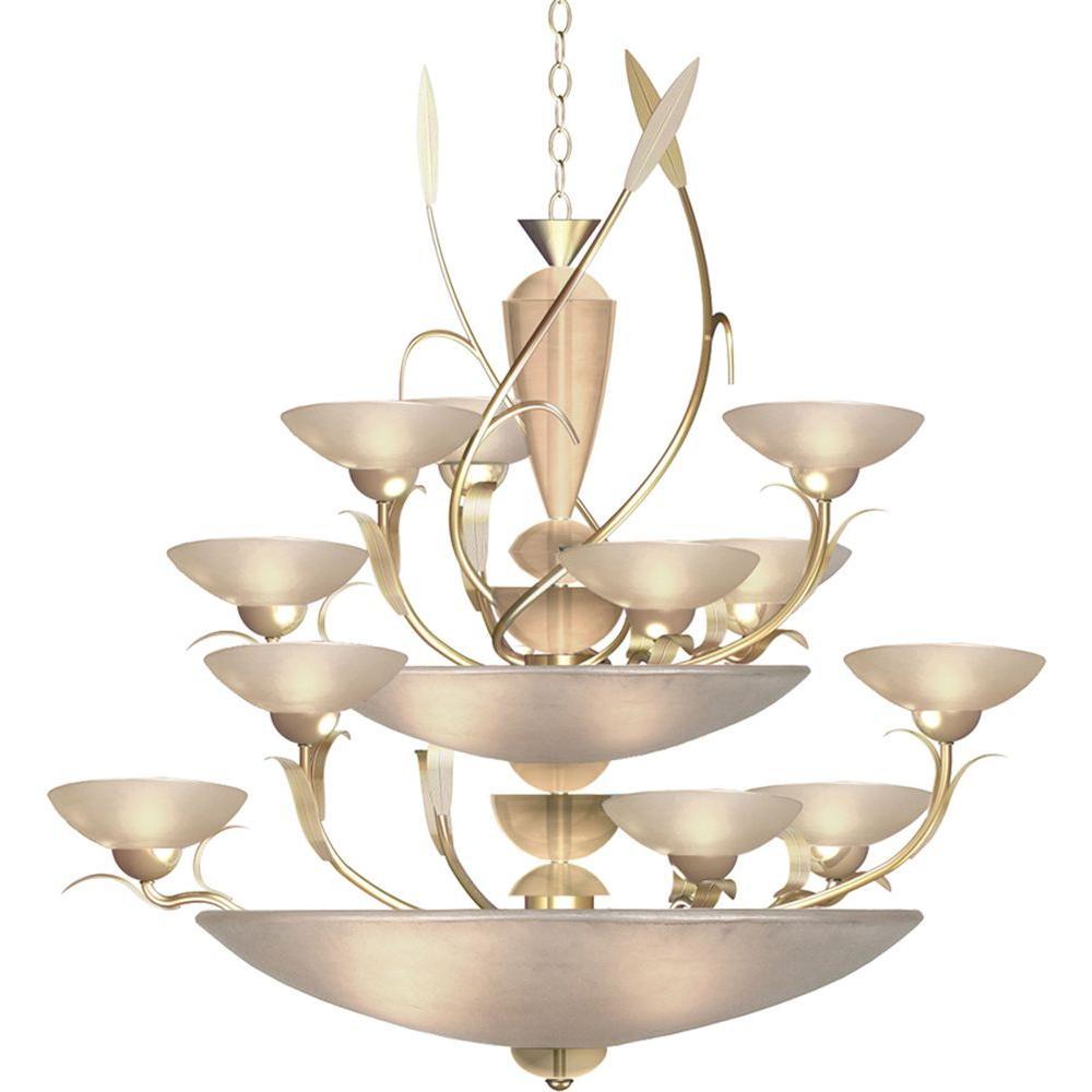 Century 12-Light Autumn Silver Chandelier