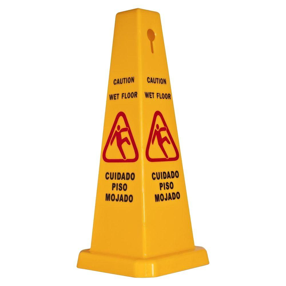Genuine joe bright 4 sided caution safety cone gjo58880 for Joe s bain industrial organization