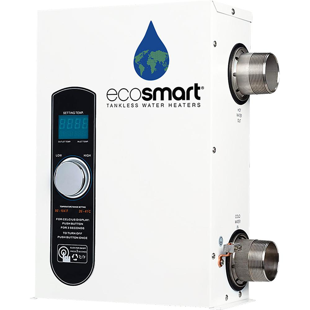 Ecosmart Smart Pool 18 Tankless Electric Pool Heater 18 Kw 240 V Smart Pool 18 The Home Depot