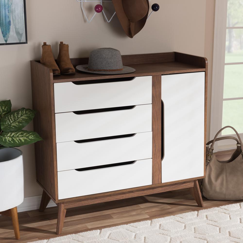 Brighton White Storage Cabinet & 36 - 42 - 36 - 42 - No Additional Features - Office Storage Cabinets ...