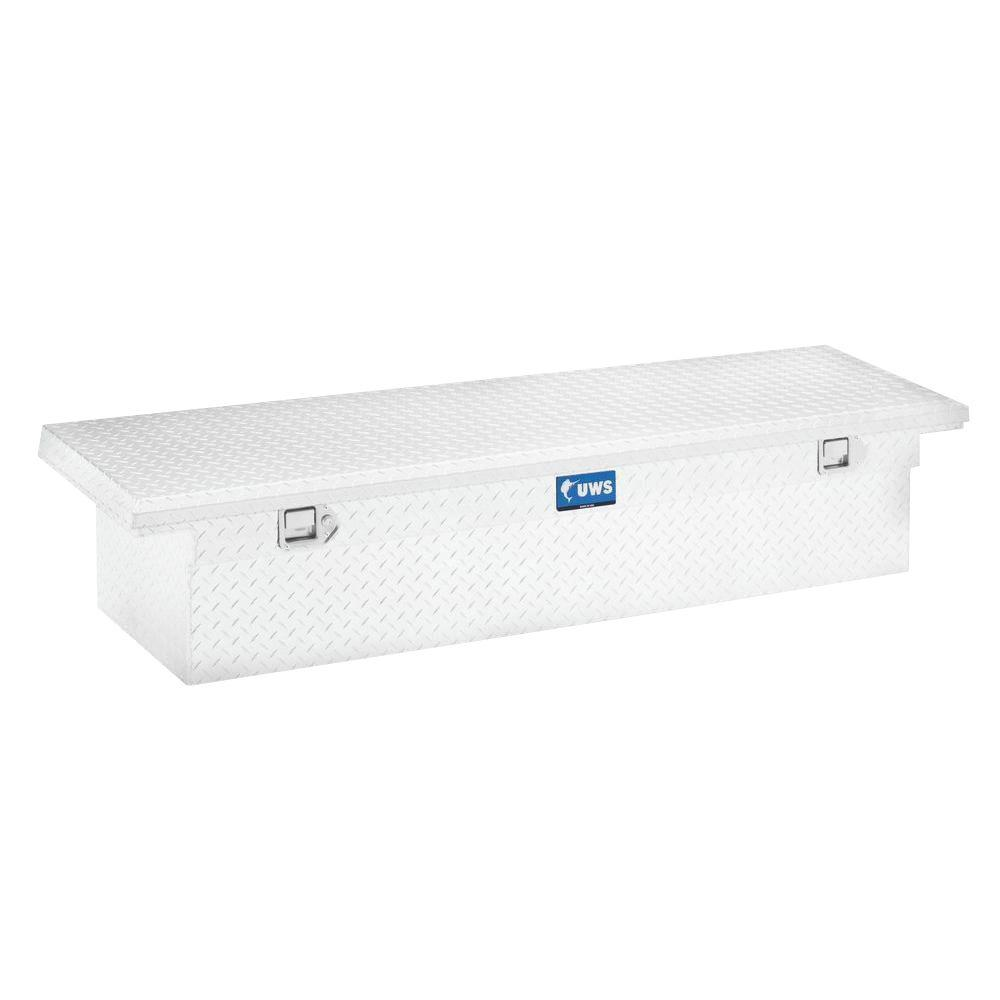 60 in. Aluminum Single Lid Crossover Angled Tool Box with Low