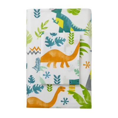 Giant Dinos 200-Thread Count Cotton Percale Fitted Sheet