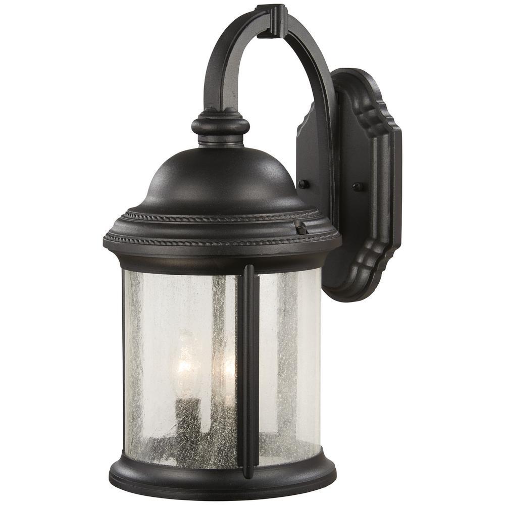 Hancock 3-Light Black Outdoor Wall Lantern Sconce