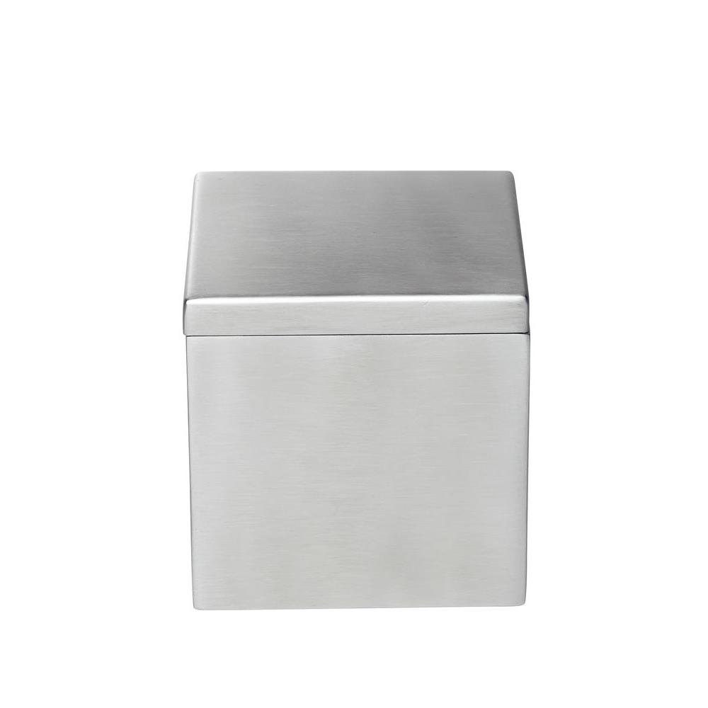 Modern Satin 4 in. Canister in Stainless Steel