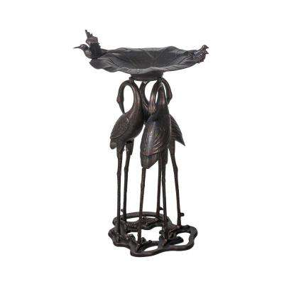 Cast Aluminum Bronze Bird Bath