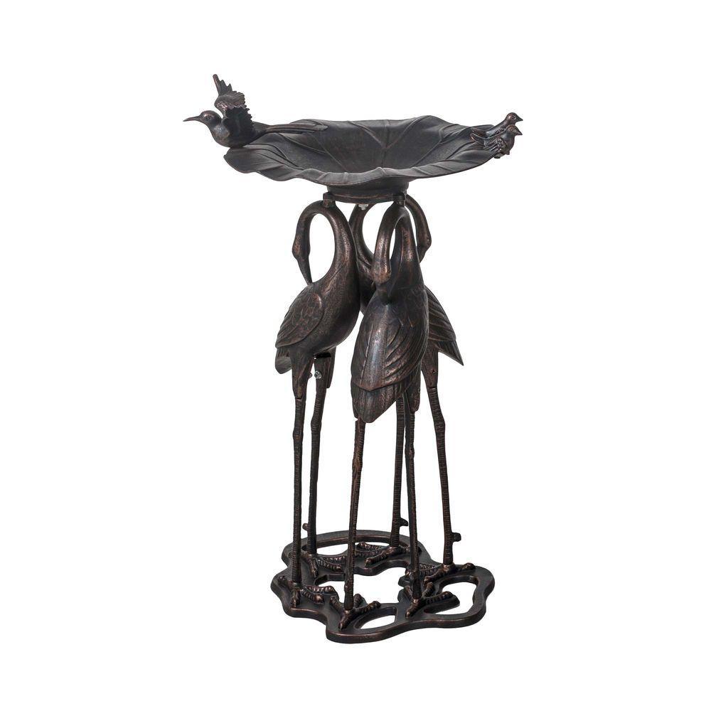 SunJoy Cast Aluminum Bronze Bird Bath