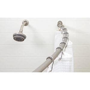 Curved Wall Mounted Rod in Satin Nickel