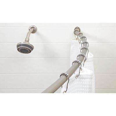 Curved Tension Shower Rod in Satin Nickel