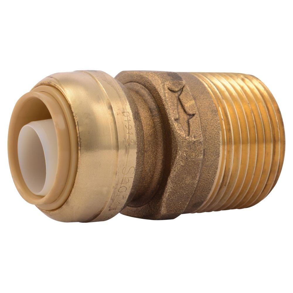 SharkBite 3/4 in. Brass Push-to-Connect x 1 in. Male Pipe Thread Adapter