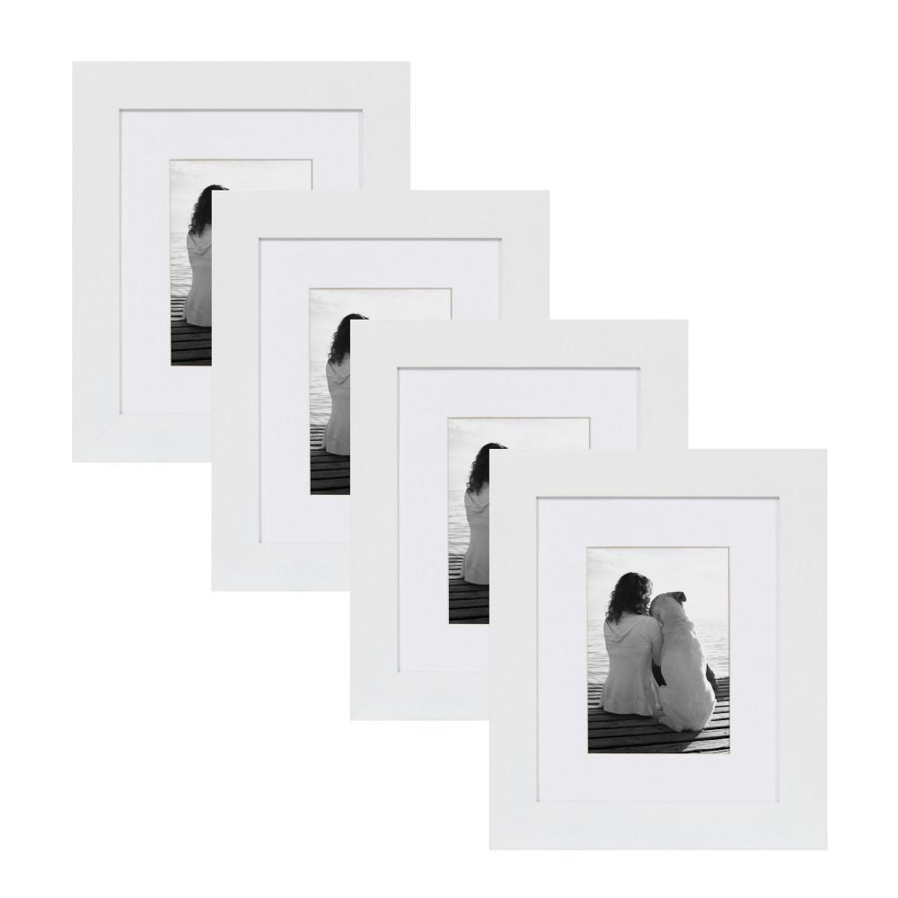 DesignOvation Museum 8 in. x 10 in. Matted to 5 in. x 7 in. White ...