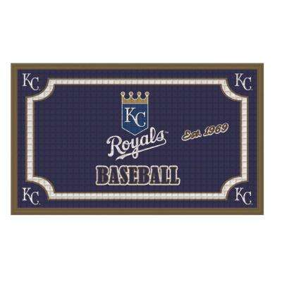 Kansas City Royals 18 in. x 30 in. Embossed Welcome Mat