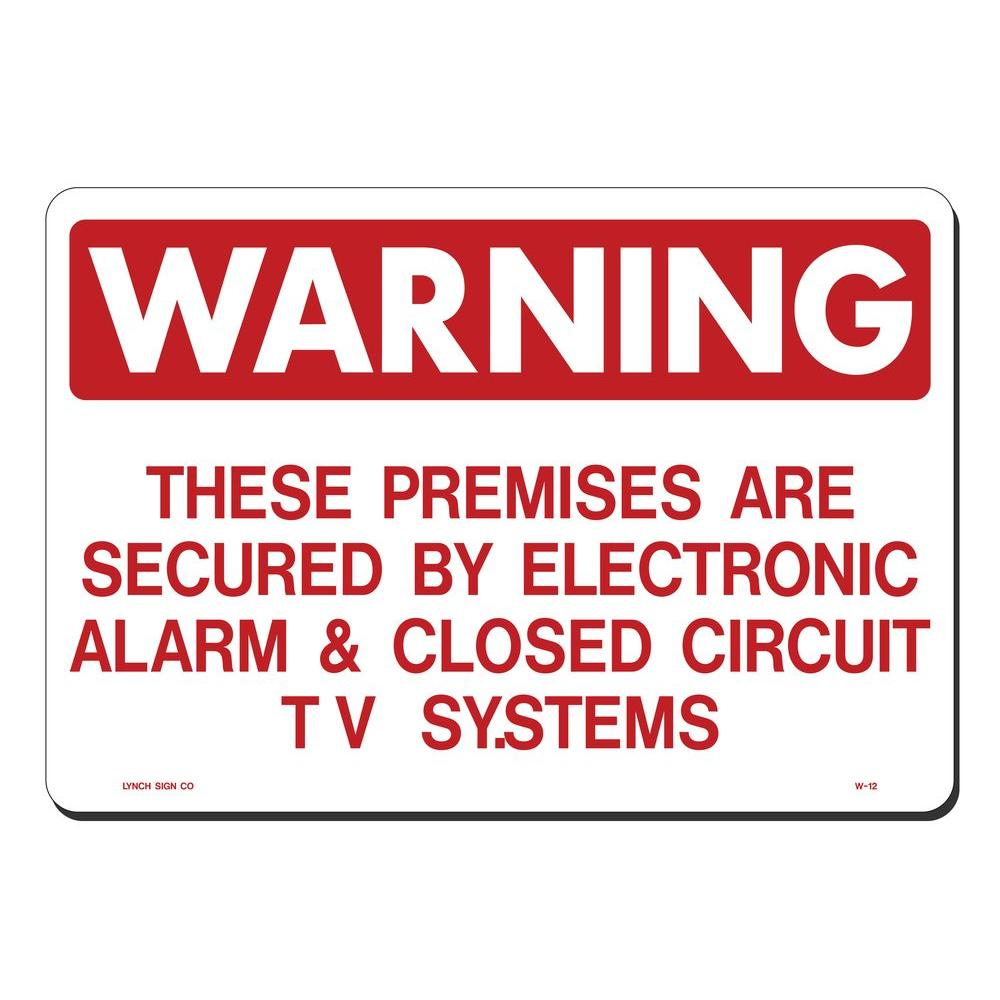 14 in. x 10 in. Alarm and Closed Circuit TV System