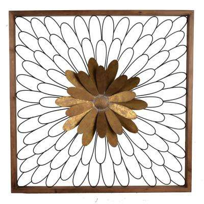 Ashlyn Bloom Gold/Natural Wall Decor
