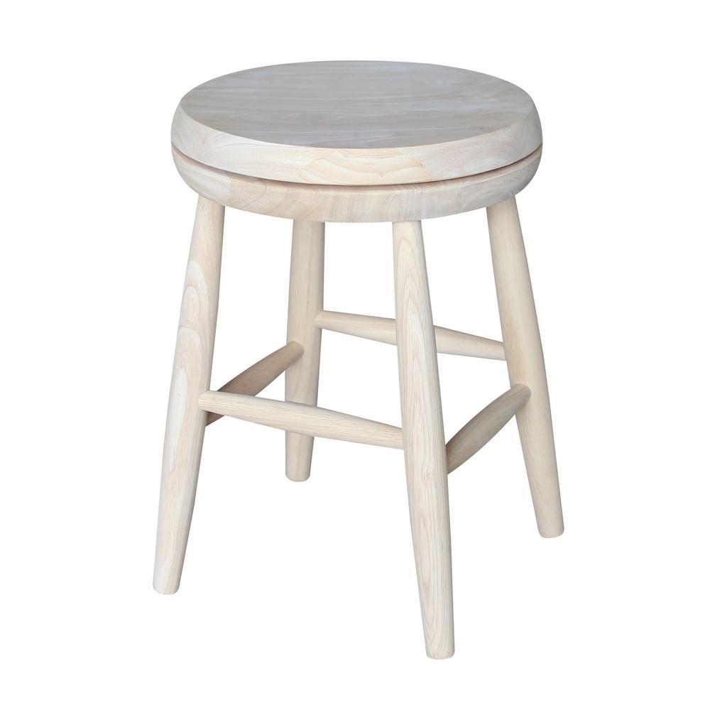 Outstanding International Concepts Scooped Seat 18 In Unfinished Wood Inzonedesignstudio Interior Chair Design Inzonedesignstudiocom