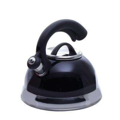 Symphony 10.4-Cup Stovetop Tea Kettle in Black