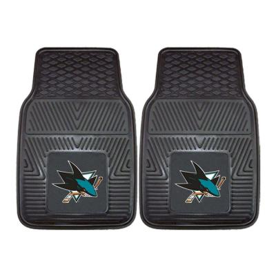 San Jose Sharks 18 in. x 27 in. 2-Piece Heavy Duty Vinyl Car Mat